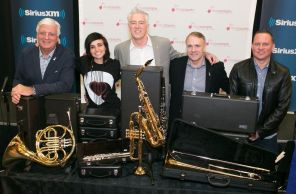 2015 JUNO Award nominee Lights at the MusiCounts event at Orchard Park Secondary School in Hamilton on March 12, 2015. (Photo: Barry Roden)
