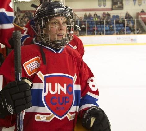 Sara Harmer at the JUNO Cup. (Photo: CARAS)