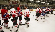 Post game hand shake after the 2015 JUNO Cup. (Photo: CARAS)