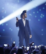 """The Weeknd performs """"Earned It"""" during the 2015 JUNO Awards at FirstOntario Centre in Hamilton on March 15, 2015. (Photo: CARAS)"""