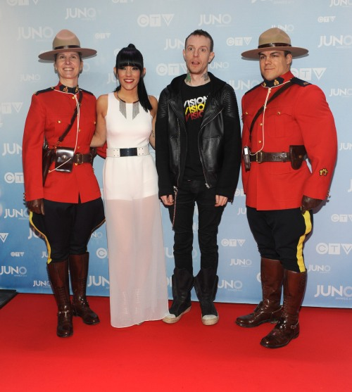 Deadmau5 on the red carpet at 2015 JUNO Awards at FirstOntario Centre in Hamilton on March 15, 2015. (Photo: CARAS)
