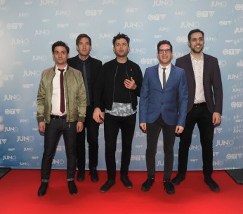 Arkells on the red carpet at 2015 JUNO Awards at FirstOntario Centre in Hamilton on March 15, 2015. (Photo: CARAS)