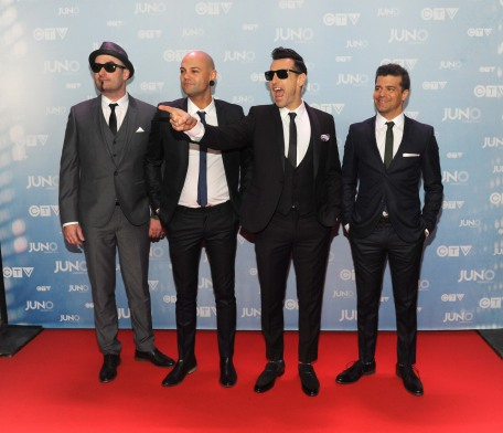 Hedley on the red carpet at 2015 JUNO Awards at FirstOntario Centre in Hamilton on March 15, 2015. (Photo: CARAS)
