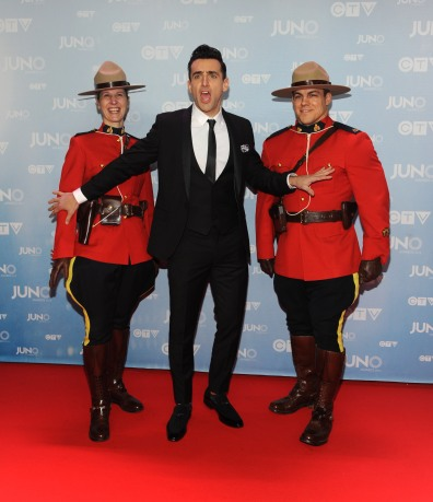 Host Jacob Hoggard on the red carpet at 2015 JUNO Awards at FirstOntario Centre in Hamilton on March 15, 2015. (Photo: CARAS)