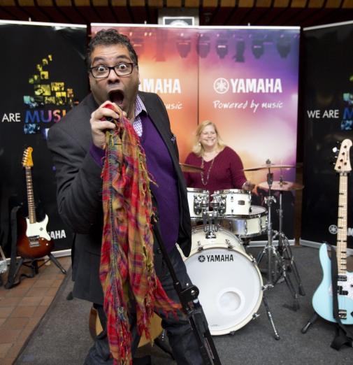 Calgary mayor Naheed Nenshi at the 2015 JUNO Songwriters' Circle. (Photo: CARAS)