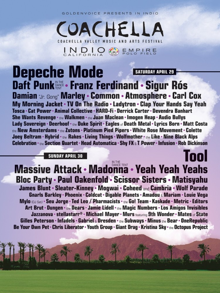Ranked: The 16 Best Coachella Line-Ups of All-Time