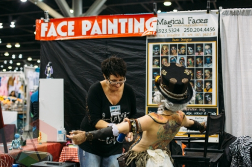 Body painting at Fan Expo Vancouver 2015. (Photo: Steven Shepherd/Aesthetic Magazine Toronto)