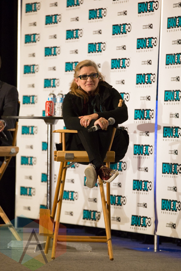 Carrie Fisher (Star Wars) at Fan Expo Vancouver 2015. (Photo: Steven Shepherd/Aesthetic Magazine Toronto)