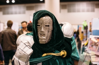 Dr. Doom at Fan Expo Vancouver 2015. (Photo: Steven Shepherd/Aesthetic Magazine Toronto)