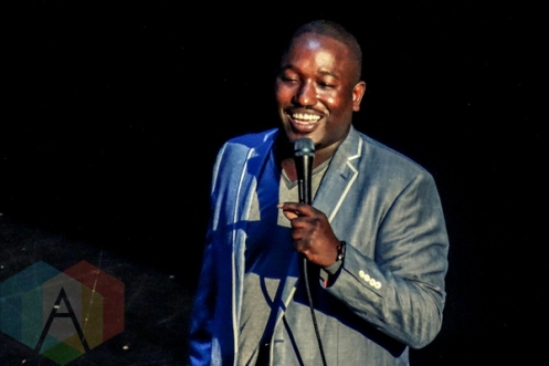 Hannibal Buress performing at The Chicago Theatre in Chicago on April 9th, 2015. (Photo: Josh Mellin/Aesthetic Magazine Toronto)