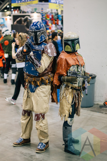 Jango, and Boba Fett (Star Wars) at Fan Expo Vancouver 2015. (Photo: Steven Shepherd/Aesthetic Magazine Toronto)