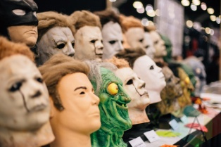 Horror movie masks at Fan Expo Vancouver 2015. (Photo: Steven Shepherd/Aesthetic Magazine Toronto)