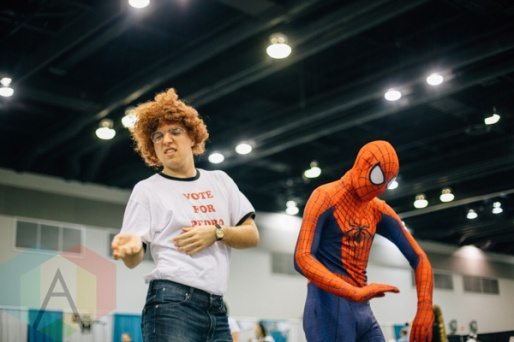 Napoleon Dynamite (left), and Spider-Man at Fan Expo Vancouver 2015. (Photo: Steven Shepherd/Aesthetic Magazine Toronto)
