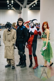 Left from right: Rorschach (Watchmen), Nightwing (DC Comics), Harley Quinn (Batman), and Poison Ivy (Batman) at Fan Expo Vancouver 2015. (Photo: Steven Shepherd/Aesthetic Magazine Toronto)