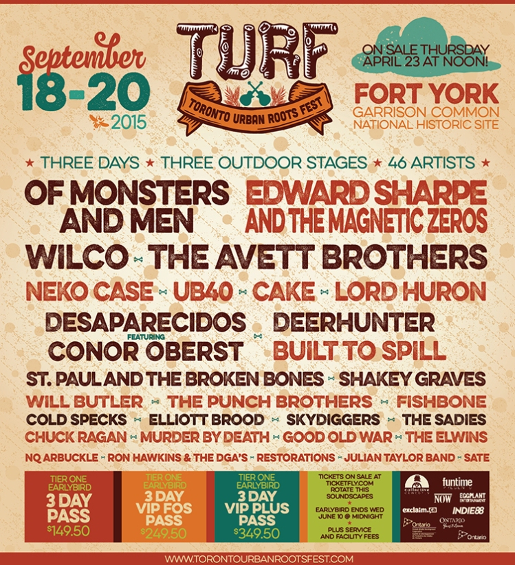 Toronto Urban Roots Fest (TURF) Reveals 2015 Line-Up
