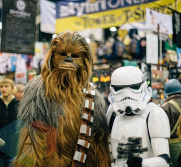 Chewbacca (left), and Stormtrooper (Star Wars) at Fan Expo Vancouver 2015. (Photo: Steven Shepherd/Aesthetic Magazine Toronto)
