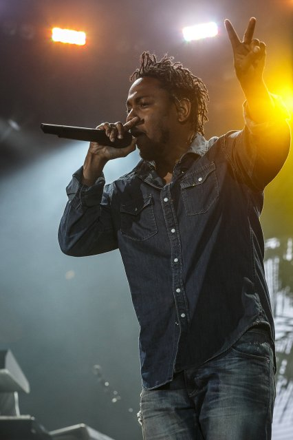 Kendrick Lamar performing at Sasquatch 2015. (Photo: Matthew Lamb)