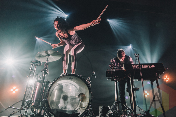 Matt and Kim performing at The Danforth Music Hall in Toronto, ON on May 18, 2015. (Photo: Rick Clifford/Aesthetic Magazine)