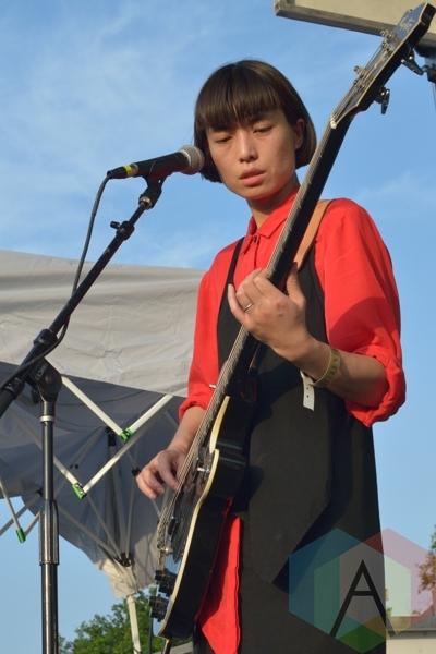 Chui Wan performing at Austin Psych Fest: Levitation in Austin, TX on May 9, 2015. (Photo: Steve Danyleyko/Aesthetic Magazine Toronto)