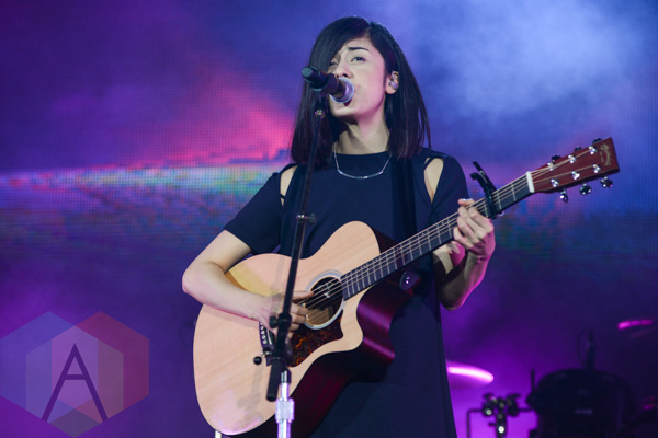 Daniela Andrade at Youtube FanFest at Yonge-Dundas Square in Toronto