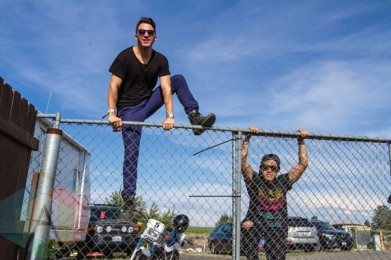 Hunter Hunted backstage at Sasquatch 2015. (Photo: Daniel Hager/Aesthetic Magazine Toronto)