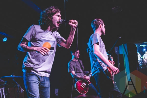 Real Friends performing at the Altar Bar in Pittsburgh, PA on April 30, 2015. (Photo: Emily Kovacic/Aesthetic Magazine Toronto)
