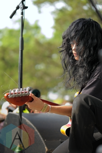 LA Witch performing at Austin Psych Fest: Levitation in Austin, TX on May 9, 2015. (Photo: Steve Danyleyko/Aesthetic Magazine Toronto)