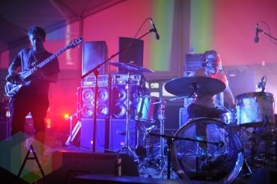 Lightning Bolt performing at Austin Psych Fest: Levitation in Austin, TX on May 8, 2015. (Photo: Steve Danyleyko/Aesthetic Magazine Toronto)