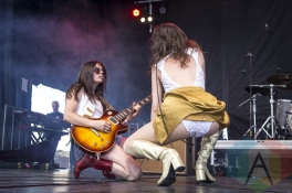 Thunderpussy performing at Sasquatch 2015. (Photo: Matthew Thompson/Aesthetic Magazine Toronto)