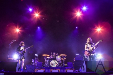 Sleater Kinney performing at Sasquatch 2015. (Photo: Matthew Thompson/Aesthetic Magazine Toronto)