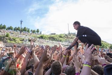 Twenty One Pilots performing at Sasquatch 2015. (Photo: Matthew Thompson/Aesthetic Magazine Toronto)