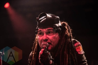 Ministry performing at the Vogue Theatre in Vancouver, BC on June 12, 2015. (Photo: Amy Ray/Aesthetic Magazine)