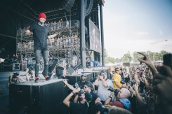 Twenty One Pilots performing at the Bonnaroo Music Festival in Manchester, TN on June 14, 2015. (Photo: Erik Voake)