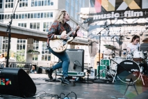 Mise En Scene performing at Yonge-Dundas Square in Toronto, ON on June 20, 2015 during NXNE 2015. (Photo: Amy Buck/Aesthetic Magazine)
