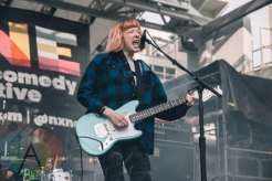 Dilly Dally performing at Yonge-Dundas Square in Toronto, ON on June 20, 2015 during NXNE 2015. (Photo: Amy Buck/Aesthetic Magazine)