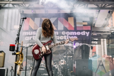 Best Coast performing at Yonge-Dundas Square in Toronto, ON on June 20, 2015 during NXNE 2015. (Photo: Amy Buck/Aesthetic Magazine)