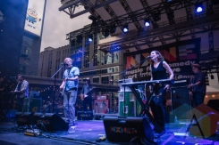 The New Pornographers performing at Yonge-Dundas Square in Toronto, ON on June 20, 2015 during NXNE 2015. (Photo: Amy Buck/Aesthetic Magazine)