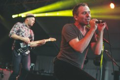 Belle and Sebastian performing at the Bonnaroo Music Festival in Manchester, TN on June 13, 2015. (Photo: Erik Voake)