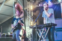Between The Buried And Me performing at the Bonnaroo Music Festival in Manchester, TN on June 11, 2015. (Photo: Erik Voake)