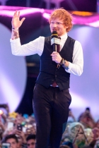 Ed Sheeran at the 2015 MMVAs in Toronto, ON on June 21, 2015. (Photo: Adam Pulicicchio/Aesthetic Magazine)