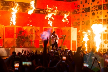 The Weeknd performing at the 2015 MMVAs in Toronto, ON on June 21, 2015. (Photo: Adam Pulicicchio/Aesthetic Magazine)