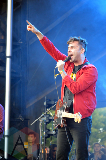 Arkells performing at Field Trip 2015 in Toronto, ON on June 6, 2015. (Photo: Justin Roth/Aesthetic Magazine)