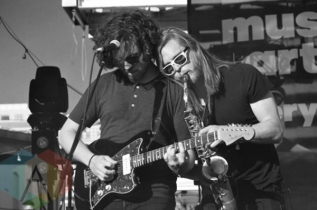 The Holy Gasp performing at Yonge-Dundas Square in Toronto, ON on June 19, 2015 during NXNE 2015. (Photo: Justin Roth/Aesthetic Magazine)