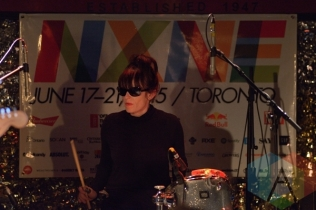 The Gories performing at The Horseshoe Tavern in Toronto, ON on June 20, 2015 during NXNE 2015. (Photo: Steve Danyleyko/Aesthetic Magazine)
