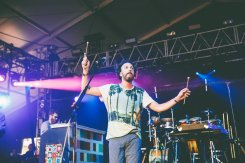 Guster performing at the Bonnaroo Music Festival in Manchester, TN on June 12, 2015. (Photo: Pooneh Ghana)