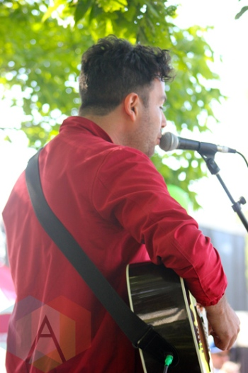 Max Kerman of Arkells performing at Field Trip 2015 in Toronto, ON on June 6, 2015. (Photo: Curtis Sindrey/Aesthetic Magazine)