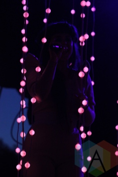Purity Ring performing at Field Trip 2015 in Toronto, ON on June 6, 2015. (Photo: Curtis Sindrey/Aesthetic Magazine)