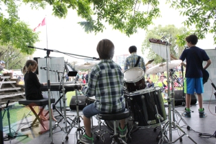 Toronto Music Camp performing at Field Trip 2015 in Toronto, ON on June 7, 2015. (Photo: Curtis Sindrey/Aesthetic Magazine)