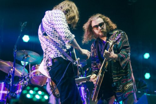 My Morning Jacket performing at the Bonnaroo Music Festival in Manchester, TN on June 13, 2015. (Photo: Joe Gall)