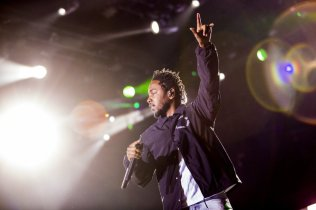 Kendrick Lamar performing at the Bonnaroo Music Festival in Manchester, TN on June 12, 2015. (Photo: Joe Gall)